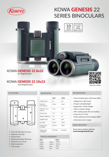 Kowa Genesis 22, specifikationer