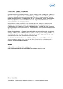 Faktablad – Urinblåsecancer