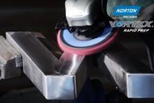 Så ytkonditionerar och polerar man rostfritt med Norton Vortex Rapid Prep lamellrondeller