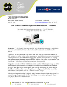 New Yacht Beam Searchlights Launched at Fort Lauderdale