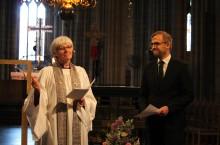 Antje Jackelén och Daniel Alm i gemensam predikan om enhet