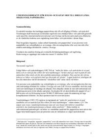 Utredningsdirektiv vård till papperslösa