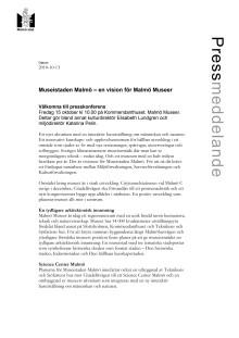 Museistaden Malmö - en vision för Malmö Museer