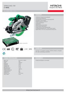 HITACHI Sirkelsag 18V C18DSL (5,0Ah)
