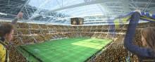 Bengt Dahlgren projekterar rör och luft på Swedbank Arena, Nordens största arena