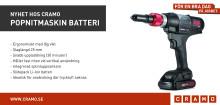 Nyhet hos Cramo: Popnitmaskin Batteri