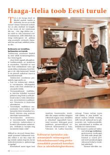 Haaga-Helia toob Eesti turule Culinary Management koolitused