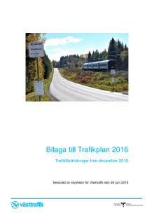 Trafikförändringar i Trafikplan 2016
