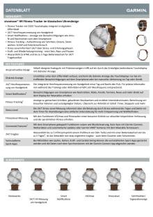 Datenblatt Garmin vívomove HR Premium Silber Lederarmband Braun