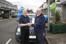 Cardiff travel agent receives brand new Fiat 500 from Fred. Olsen Cruise Lines in inaugural 'Big Fred. Olsen Giveaway'