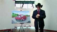 Blind konstnärs tavla av Volvo S60 auktioneras på eBay