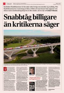 Sverige behöver nya stambanor
