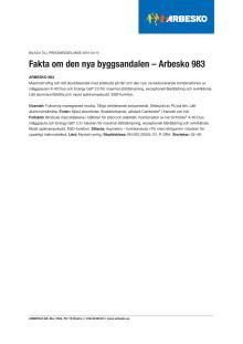 Läs mer om Arbesko 983