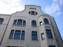 Fasadrenovering med kalkbruk av vacker jugendfastighet i Lund