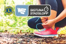 Sigtuna stadsängar sponsrar Sigtuna stadslopp och Världens barn