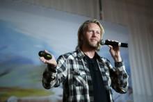 Erik Nissen Johansen pratar på Konfex i Göteborg
