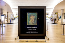 Exhibition of Munch original at Avinor Oslo Airport