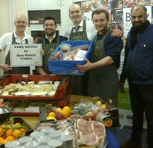Market traders rally round for local flood victims