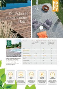 Kebony: Übersicht Terrassenprodukte - Holzterrassen
