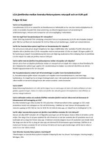 Frågor  & Svar LCA för retuhelpall  vs träpall