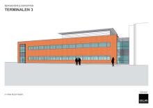 Skisser på Bergendahls Foods nya kontorsutbyggnad i Hässleholm