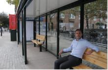Nya väderskydd i ny design till Malmö!