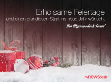 Das Mynewsdesk-Team wünscht schöne Weihnachten!
