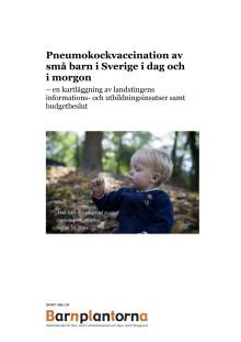 Pneumokockvaccination av små barn i Sverige i dag och i morgon - kartläggning
