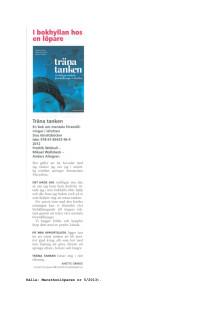 Text om Träna tanken i Maratonlöparen 5 2013
