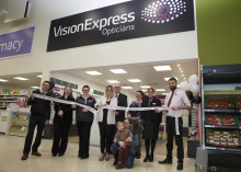Local MP Laura Smith joins Vision Express to officially open its new optical store at Tesco in Crewe