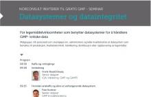 Norconsult inviterer til gratis GMP-seminar om datasystemer og dataintegritet