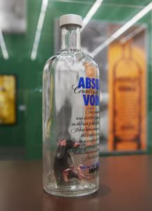 En bakfull mus på Spritmuseum