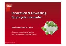 Presentation Åsa Josell och Ulrika Wallberg_Findus Matseminarium 11 april 2012