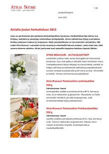 Atrian tuotevalikoimaa jouluksi 2015