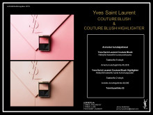 Lehdistötiedote YSL Couture Blush & Couture Highlighter