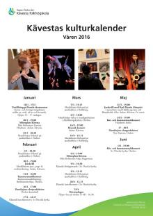 Kävesta folkhögskolas evenemang våren 2016