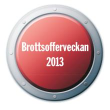 I dag inleds Nationella Brottsofferveckan 2013