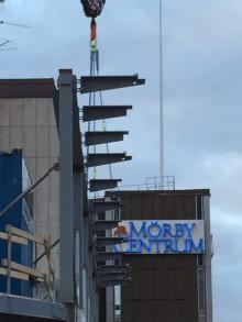 På bygget i Danderyds Centrum