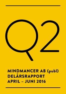 Delårsrapport för Mindmancer AB (publ) Q2 2016