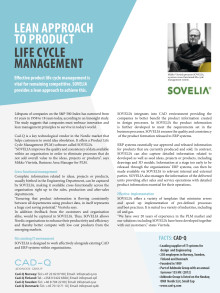 Lean Approach to Product Lifecycle Management