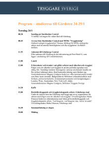 Program Göteborg 24-25/1