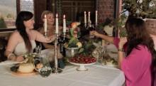 En vanlig slottsmiddag i Toscana - del 4, middagen