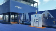 Bluewater and America's Cup Challenger Artemis Racing provide free purified drinking water to people visiting America's Cup Village in Bermuda through June