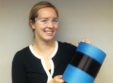 Första spolen multifilament lignin till kolfiber