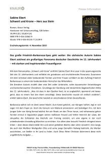 Presseinformation_Sabine Ebert, Schwert und Krone - Herz aus Stein