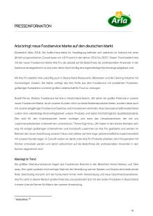 Arla bringt neue Foodservice Marke auf den deutschen Markt
