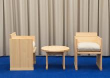 Nordiska museets vardagsrum och möbelserie i formgivning av Halleroed