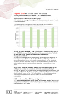 Frågor och svar avseende UCs undersökning om företagsrekonstruktioner
