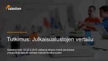 Tiedotteiden julkaisualustojen vertailu Mynewsdesk, Cision, STT info ja ePressi