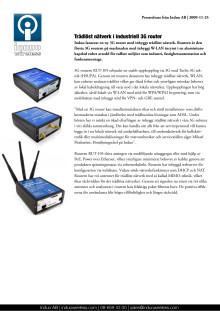 3G router med WLAN för HSUPA: RUT-105